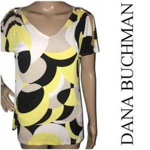 Dana Buchman Cold-Shoulder Top